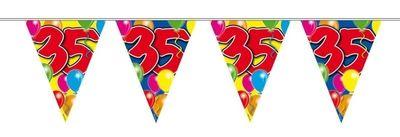 Vlaggenlijn balloons 35 jaar 10M