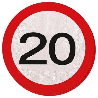 Servetten Verkeersbord 20 jaar