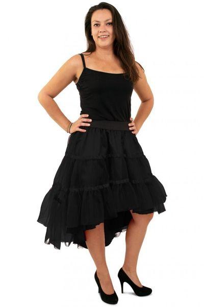 Petticoat schuin aflopend zwart