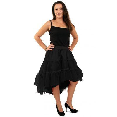 Foto van Petticoat schuin aflopend zwart