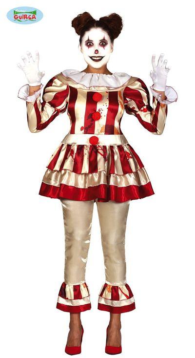 Horror clown dames kostuum