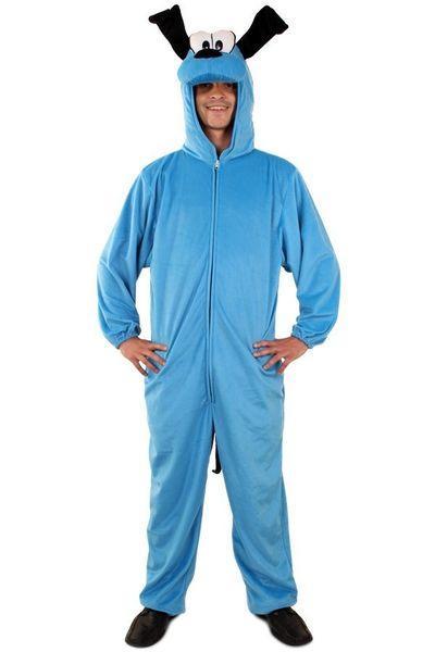 Blauwe hond kostuum unisex
