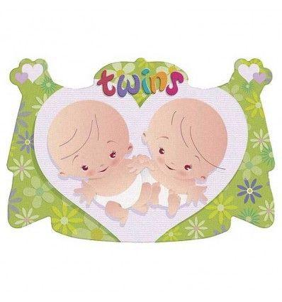 Huldebord babyshower tweeling