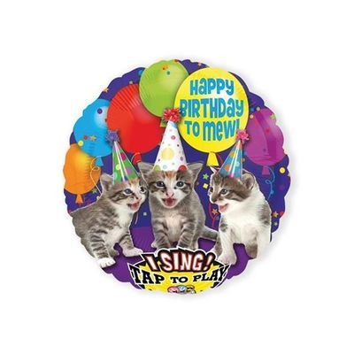 Foto van Folieballon Happy Birthday To Mew