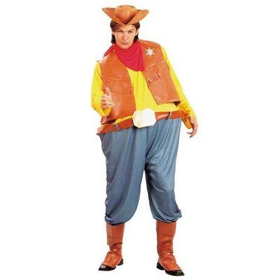 Foto van Dikke cowboy kostuum