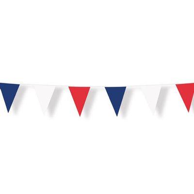 Vlaggenlijn rood/wit/blauw (10m)