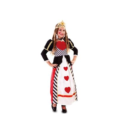 Foto van Hartenkoningin kostuum kind