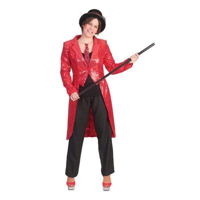 Foto van Circus slipjas rood dames