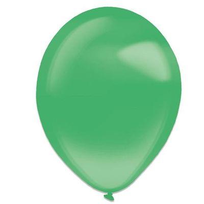 Foto van Ballonnen festive green crystal (28cm) 50st