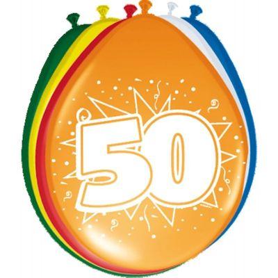 Ballonnen 50 jaar (30cm) 8st