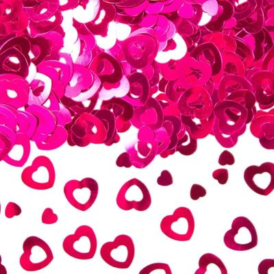 Foto van Tafel Confetti hart roze