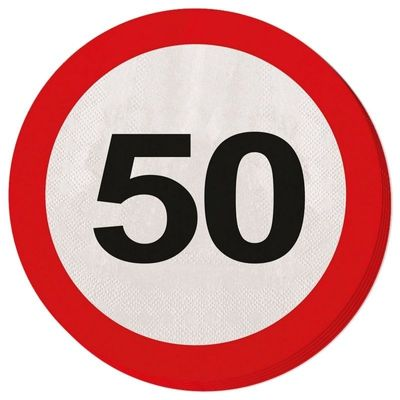 Servetten Verkeersbord 50 jaar