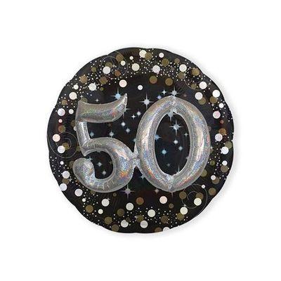 Foto van Folieballon 50 Sparkling 3D