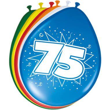 Leeftijd ballonnen 75 jaar 8 stuks