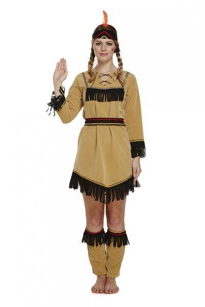Indianen jurkje - Lichtbruin