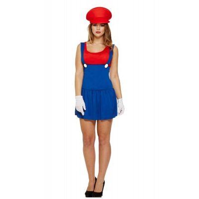 Mario kostuum dames