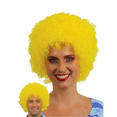Afro pruik mini geel