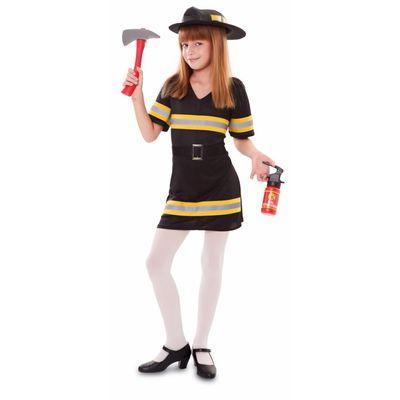 Brandweer kostuum meisje