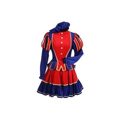 Dames pietenjurk rood/blauw