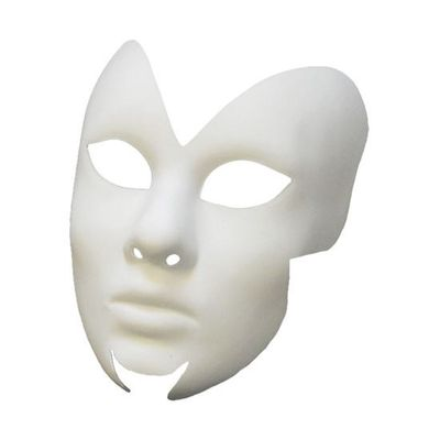 Venetiaans masker wit - fantasy