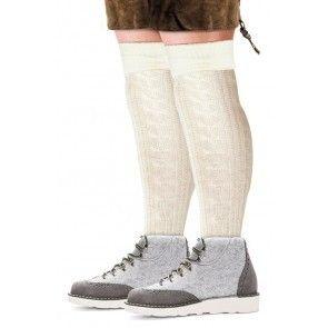 Tiroler sokken gebroken wit (41-46)