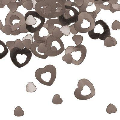 Foto van Tafel Confetti hart zilver