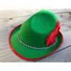 Afbeelding van Bayern Tiroler hoed - Groen met rood