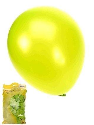 Kwaliteitsballon metallic appelgroen per 50 (Ø 14 inch / 36 cm)