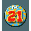 Afbeelding van Button 21 jaar