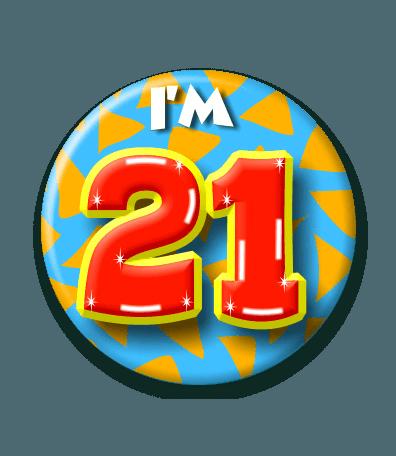 Button 21 jaar