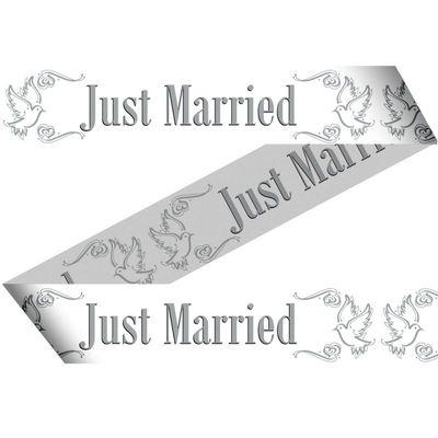Foto van Afzetlint Just Married 15Mtr/stk