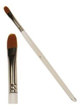 Schmink penseel plat + ronde top mt. 9 mm breed (5)