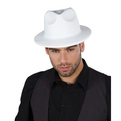 Witte gangster hoed