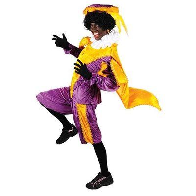 Pietenpak geel/paars met cape