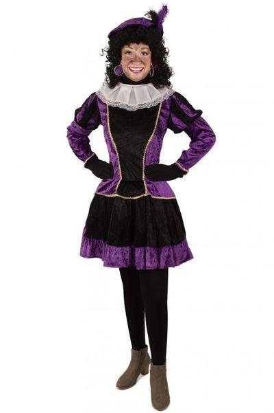 Piet jurkje met petticoat paars