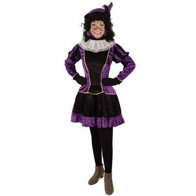 Foto van Piet jurkje met petticoat paars
