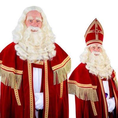 Foto van Sinterklaas baard TV-Sint buffel (Yak) lang 34.102