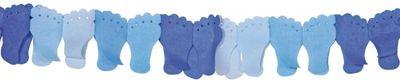 Papierenslinger voet blauw 6m /1