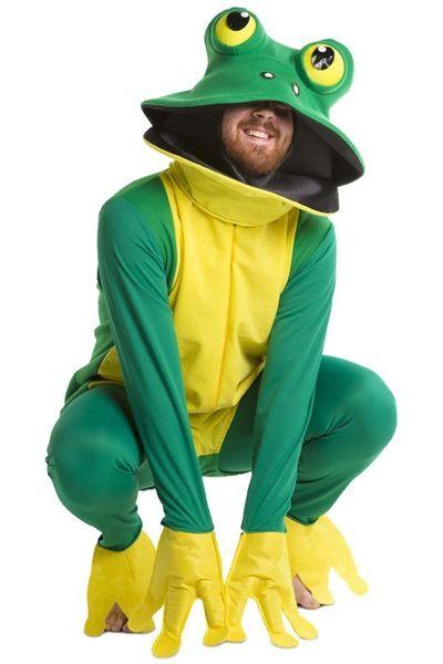 Kikker kostuum groen/geel unisex one size