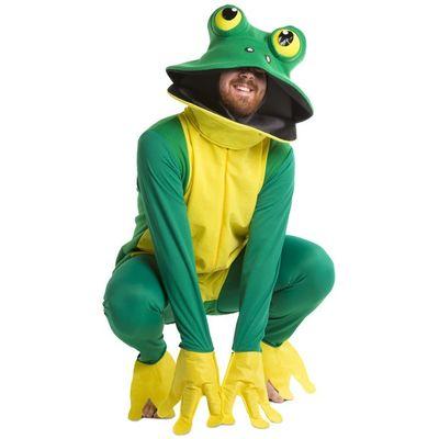 Foto van Kikker kostuum groen/geel unisex one size