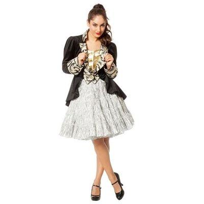 Zilveren onderrok tiroler jurk
