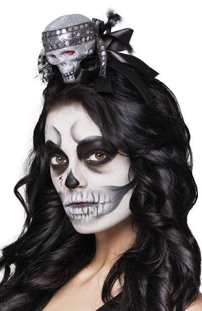 Diadeem met glitter schedel