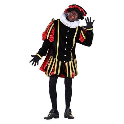 Pietenpak luxe zwart/rood