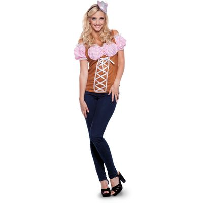 Tiroler top - roze