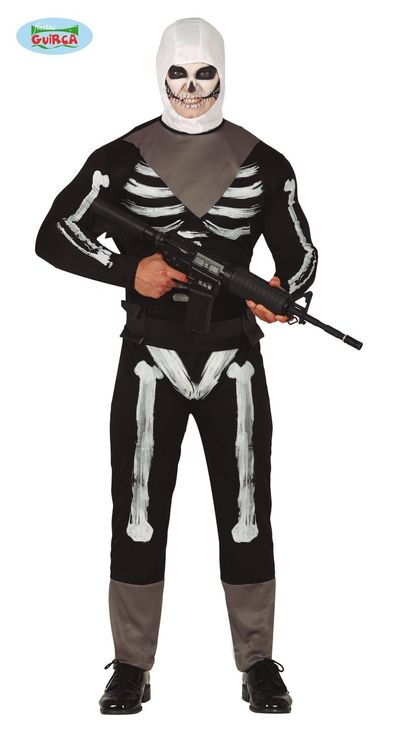 Fortnite kostuum - Skull trooper pak