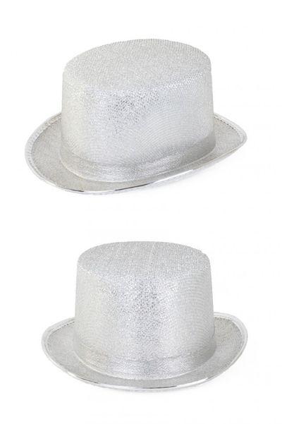 Zilveren circus directeur hoed
