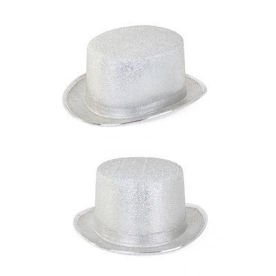 Foto van Zilveren circus directeur hoed
