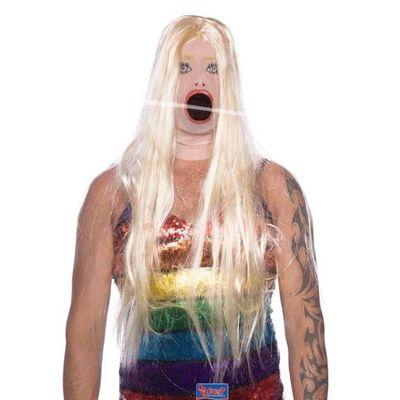 Foto van Porno masker blond haar