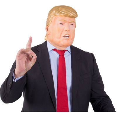 Masker Donald Trump met mond