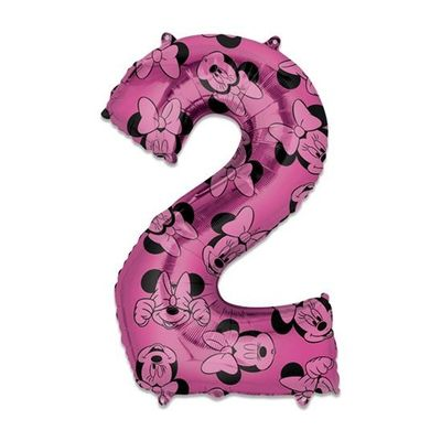 Folieballon cijfer 2 Minnie Mouse
